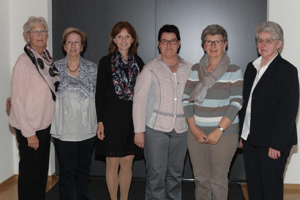 Ingrid Konrad, Marianne Schädler, Bettina Pelger-Sprenger, Margrit Ritter, Annemarie Mündle, Karin Walch