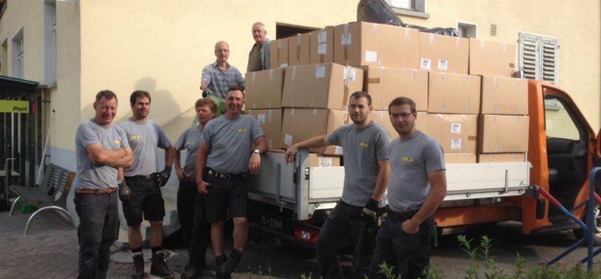 2017 – bereits acht Hilfsgütertransporte