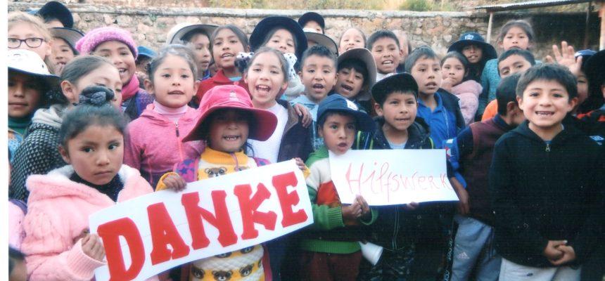 Wir haben einen Dankesbrief aus Peru erhalten