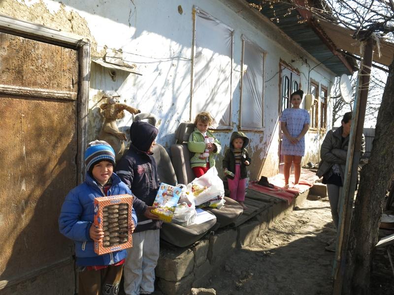 Verteilung von Lebensmittelpaketen