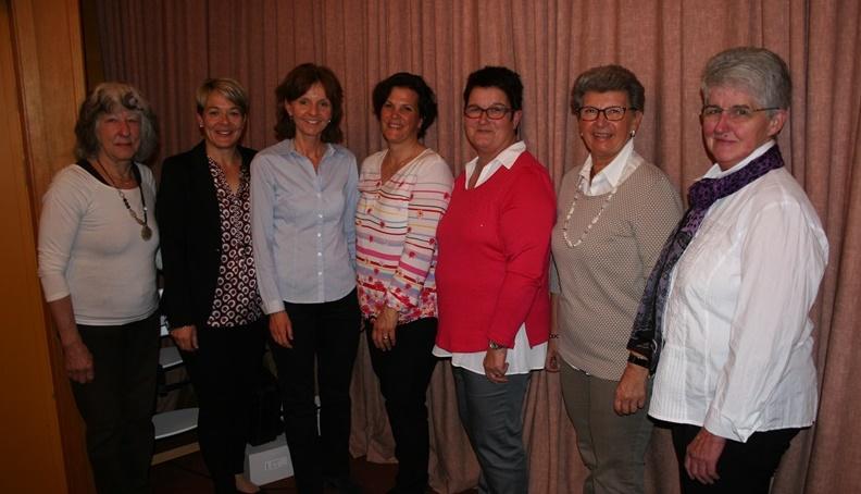 Dorothea Wohlwend, Astrid Ritter, Bettina Pelger-Sprenger, Sandra Rohner-Uebersax, Margrit Ritter, Annemarie Mündle, Karin Walch