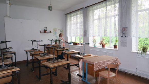 Heizung für eine Dorfschule in Moldawien