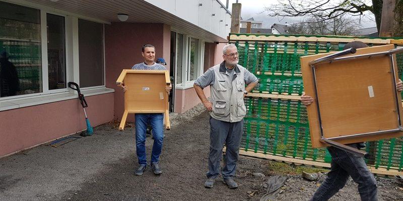 Die Möbel der Jugendherberge Schaan-Vaduz gehen nach Rumänien