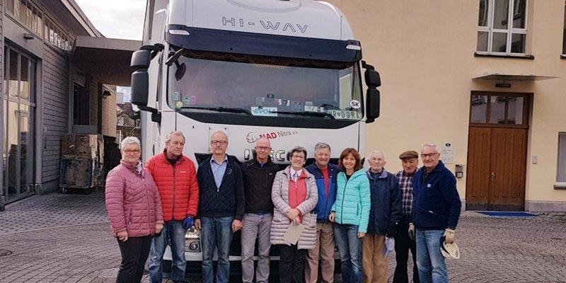 Hilfsgüter an die Gemeinschaft Familie Mariens, Lucenec Slowakei