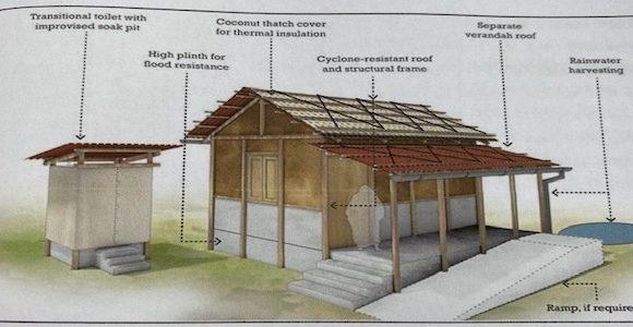 35 Häuschen nach Tropensturm Fani in Indien