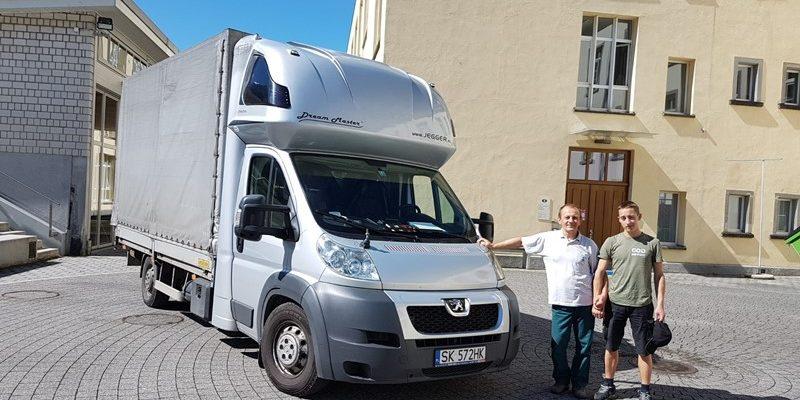 Transport nach Krakau in Polen