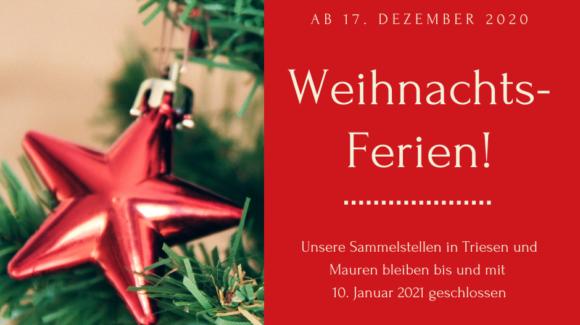 Weihnachts-Ferien 2020