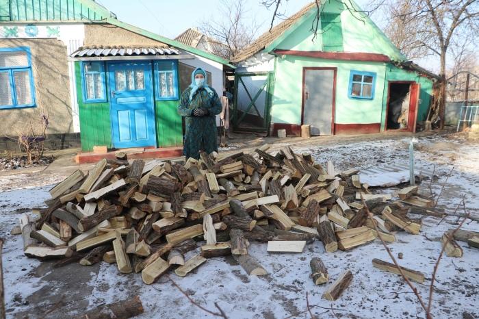 Brennholz für Bedürftige in Moldawien